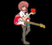 エレキギター女子