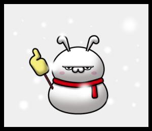 彫りの深いウサギ(冬)
