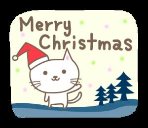 大人かわいい ネコのクリスマスと新年