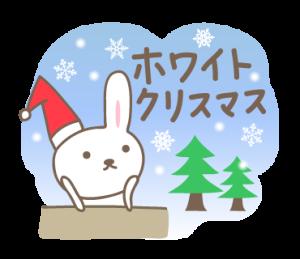 大人かわいい うさぎのクリスマスと新年