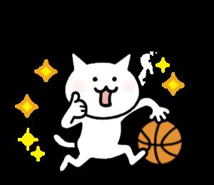 バスケ大好きにゃんこ【応援編】