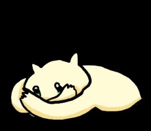 ヨメを想うネコ