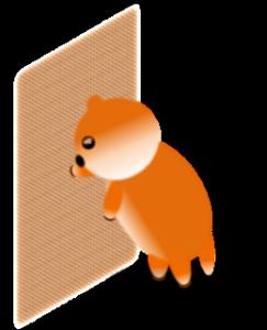丸い犬のスタンプです