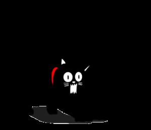 使える?黒猫のシルエットスタンプ