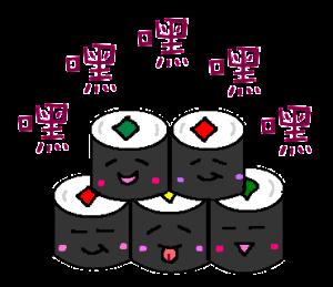 お寿司で中国語