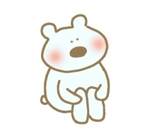 かわいいシロクマののん写真にも会話にも☆